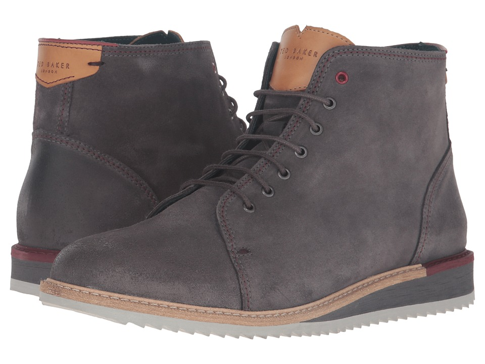 Ted Baker - Odaire (Dark Grey Waxed Suede) Men's Shoes