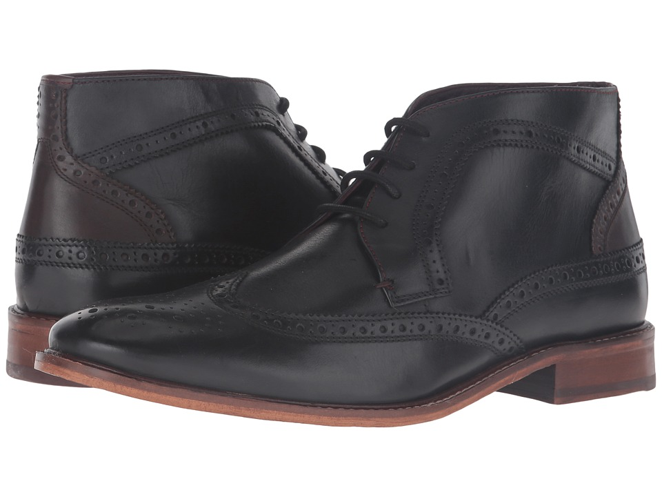 Ted Baker - Pericop 2 (Black/Dark Brown Leather) Men's Lace-up Boots