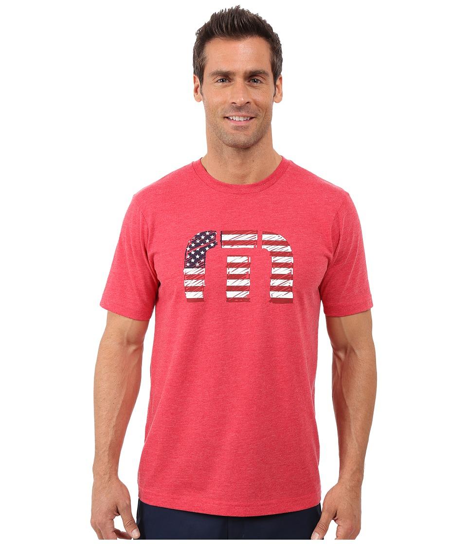 TravisMathew - Sparkler T-Shirt (Heather Red) Men