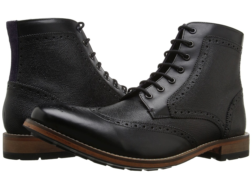 Ted Baker - Sealls 3 (Black Leather) Men's Lace-up Boots