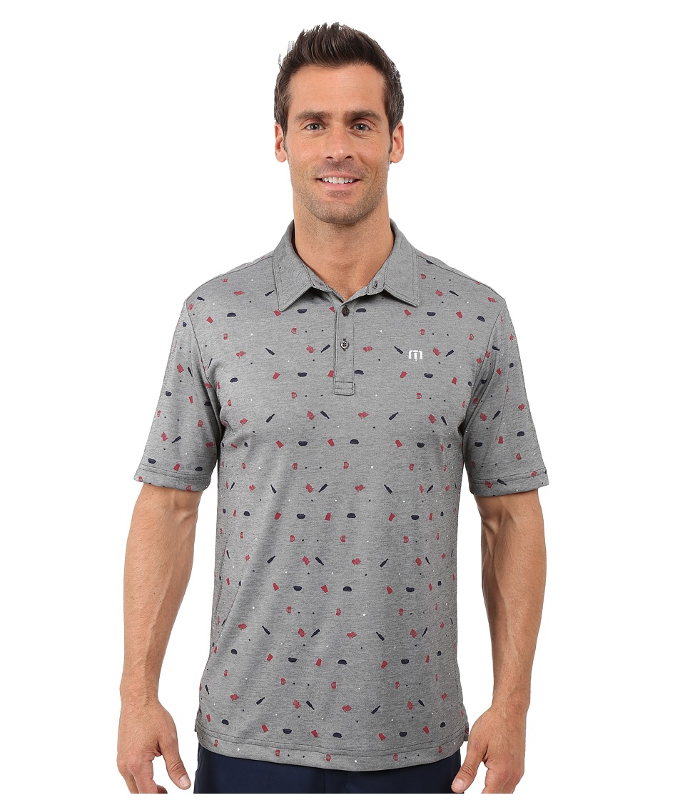 TravisMathew - Living The Dream Top (Heather Grey) Men's Short Sleeve Pullover