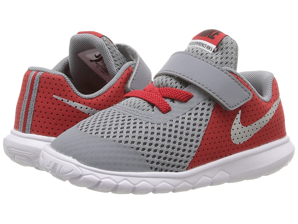Nike Kids - Flex Experience 5 (Infant/Toddler) (Stealth/University Red/White/Metallic Silver) Boys Shoes
