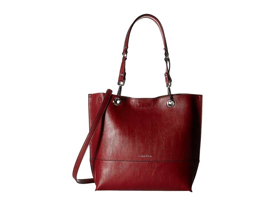 Calvin Klein - Pebble Tote (Valentine/Luggage) Tote Handbags