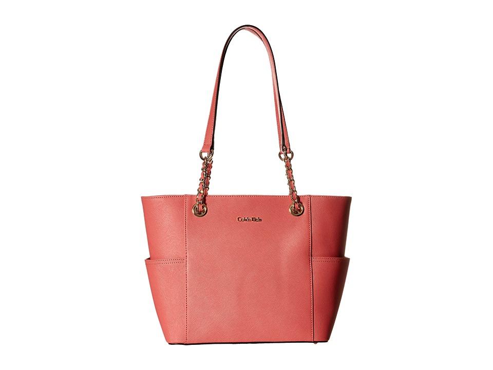 Calvin Klein - Saffiano Tote (Salmon) Handbags