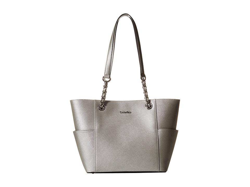 Calvin Klein - Saffiano Tote (Smokey Silver) Handbags