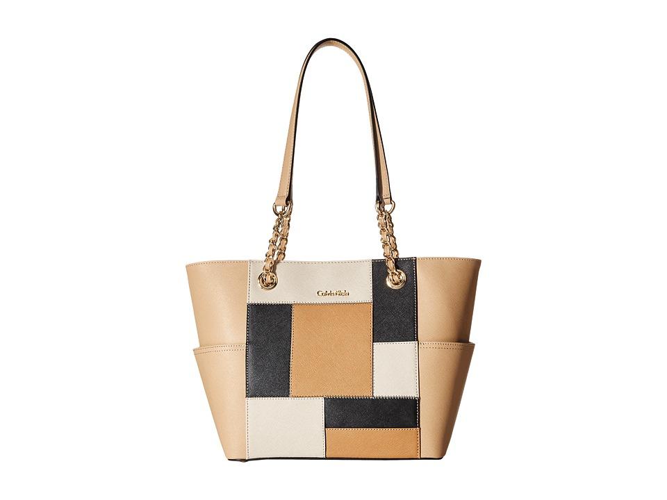 Calvin Klein - Saffiano Tote (Neutral Color Block) Handbags