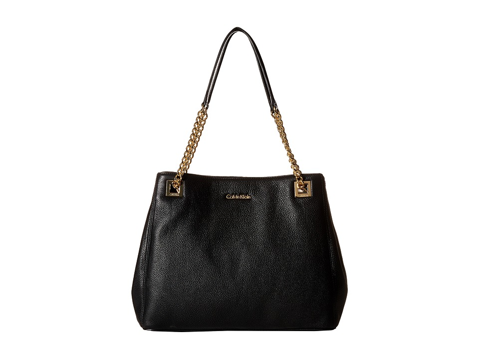 Calvin Klein - Pebble Tote (Black/Gold) Tote Handbags