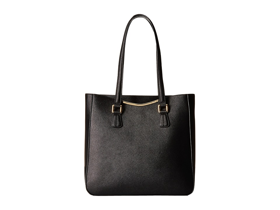 Calvin Klein - Saffiano Tote (Black/Black) Tote Handbags