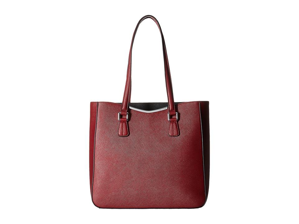 Calvin Klein - Saffiano Tote (Valentine/Black) Tote Handbags