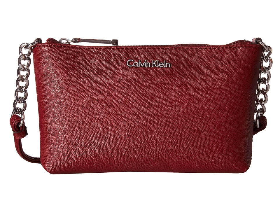 Calvin Klein - Saffiano Crossbody (Valentine) Cross Body Handbags