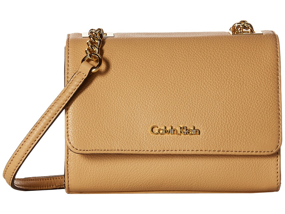 Calvin Klein - Pebble Crossbody (Nude) Cross Body Handbags