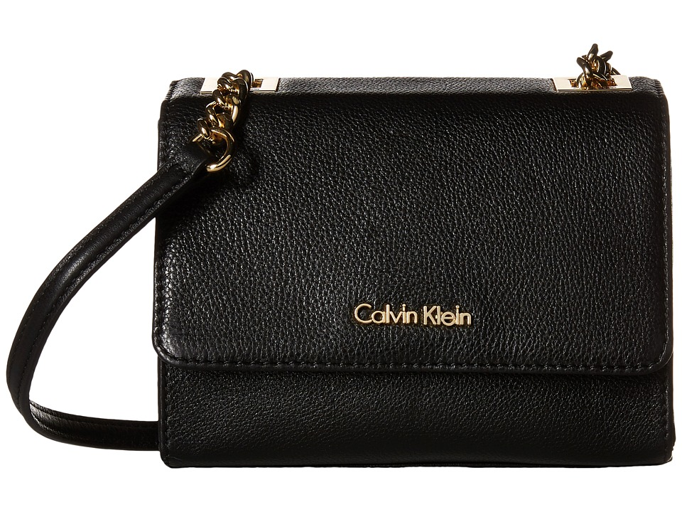 Calvin Klein - Pebble Crossbody (Black/Gold) Cross Body Handbags