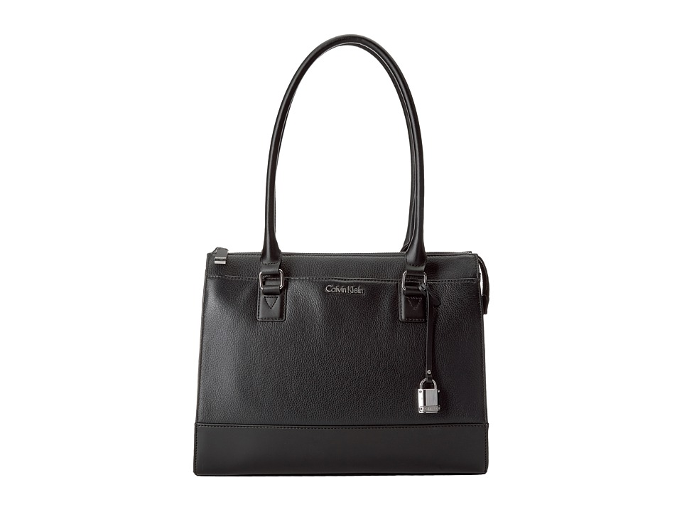 Calvin Klein - Pebble Satchel (Black) Satchel Handbags
