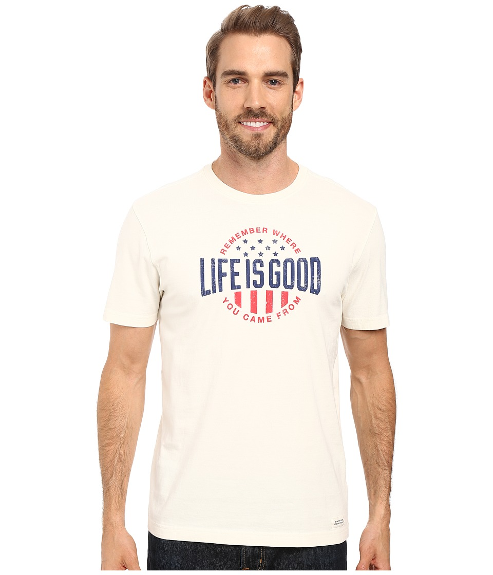 Life is Good Remember LIG Crusher Tee (Simply Ivory) Men