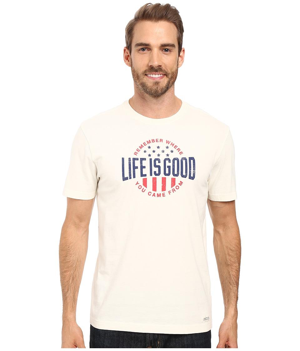 Life is Good - Remember LIG Crusher Tee (Simply Ivory) Men's T Shirt