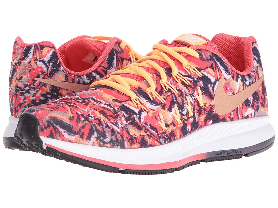 Nike Kids - Zoom Pegasus 33 Print (Big Kid) (Ember Glow/Purple Dynasty/Peach Cream/Metallic Red Bronze) Girls Shoes