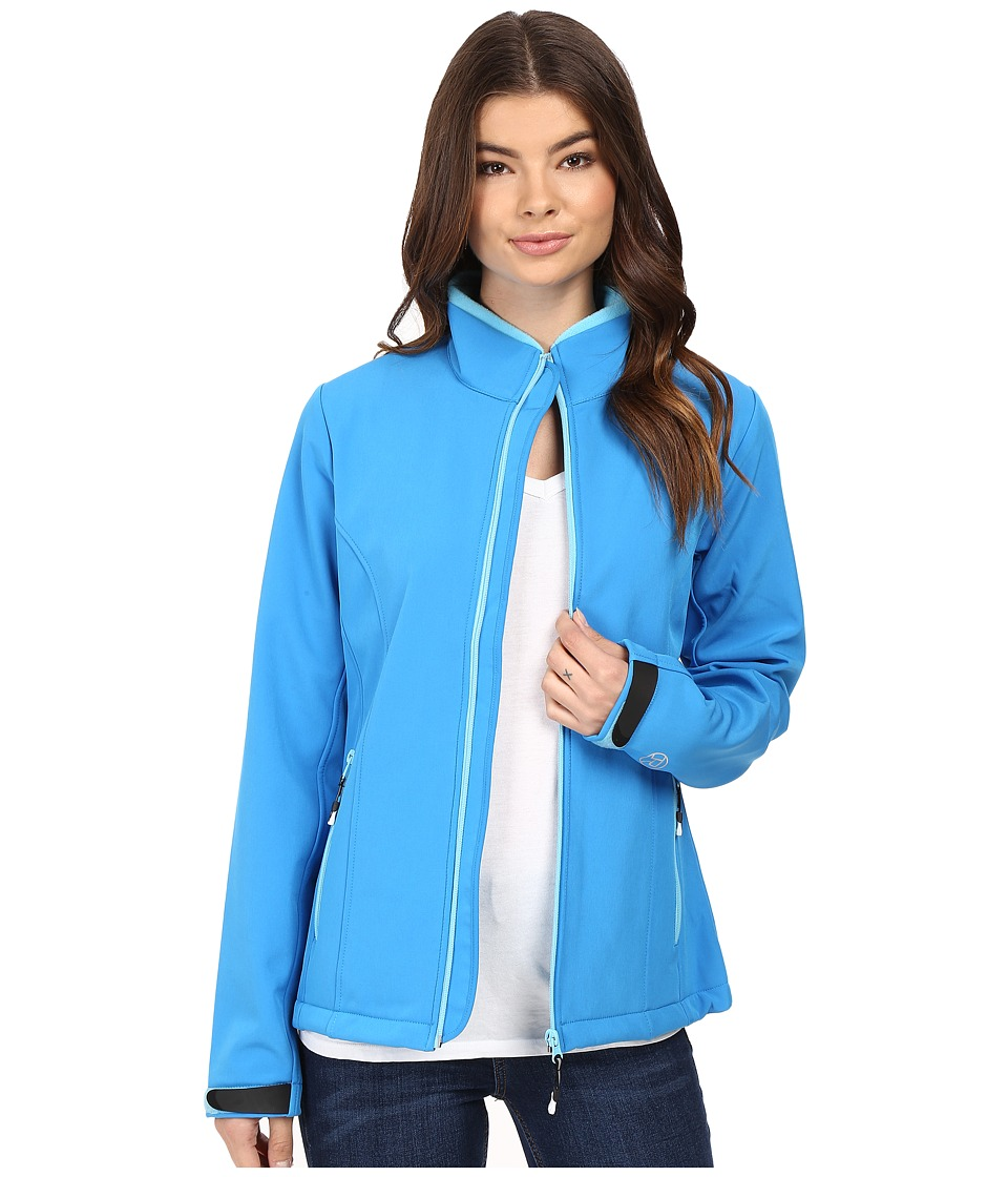 Roper - Softshell Bomber Jacket (Blue) Women's Coat