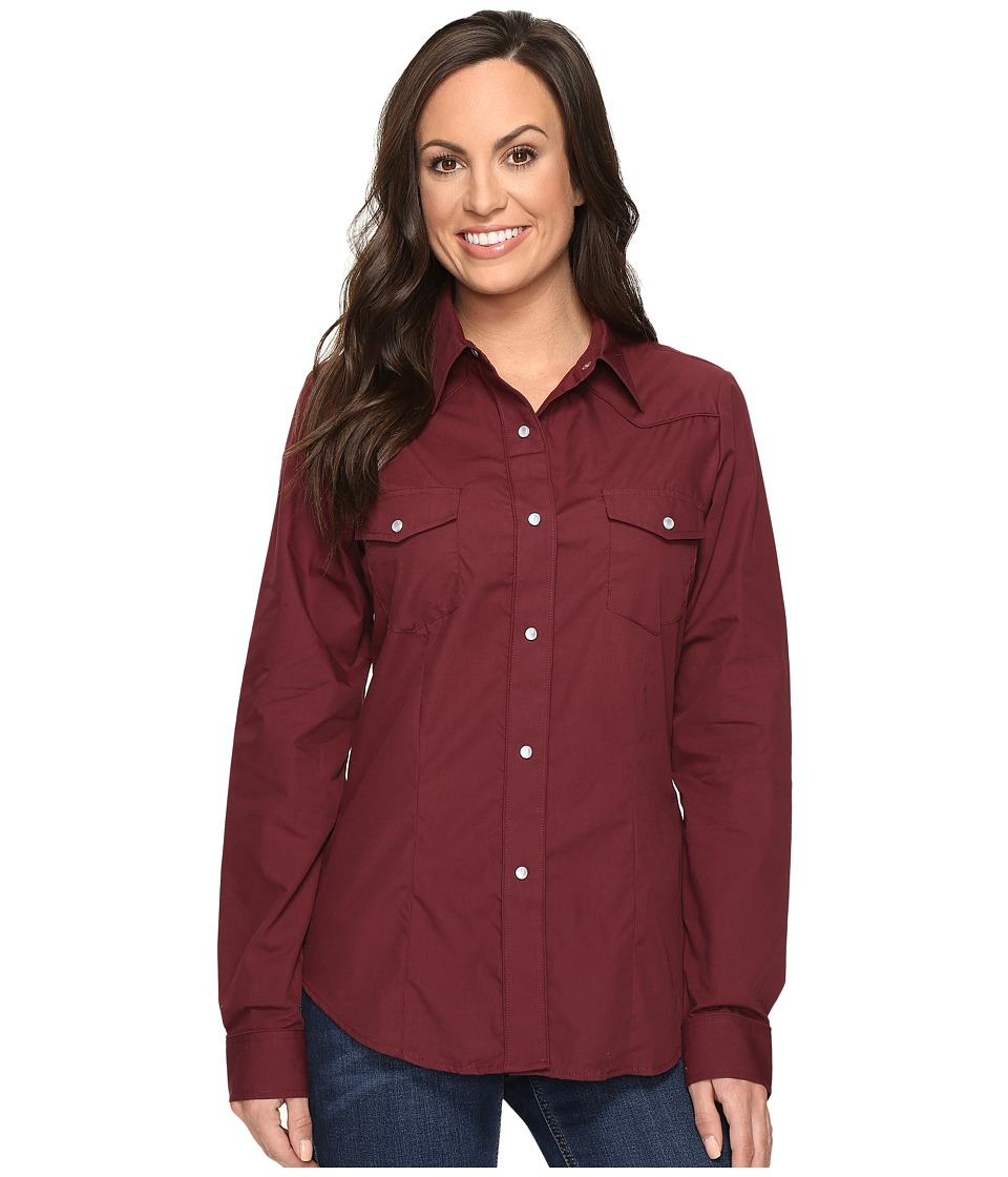 Roper - 0735 Solid Broadcloth Fancy Shirt in Wine (Wine) Women's Clothing