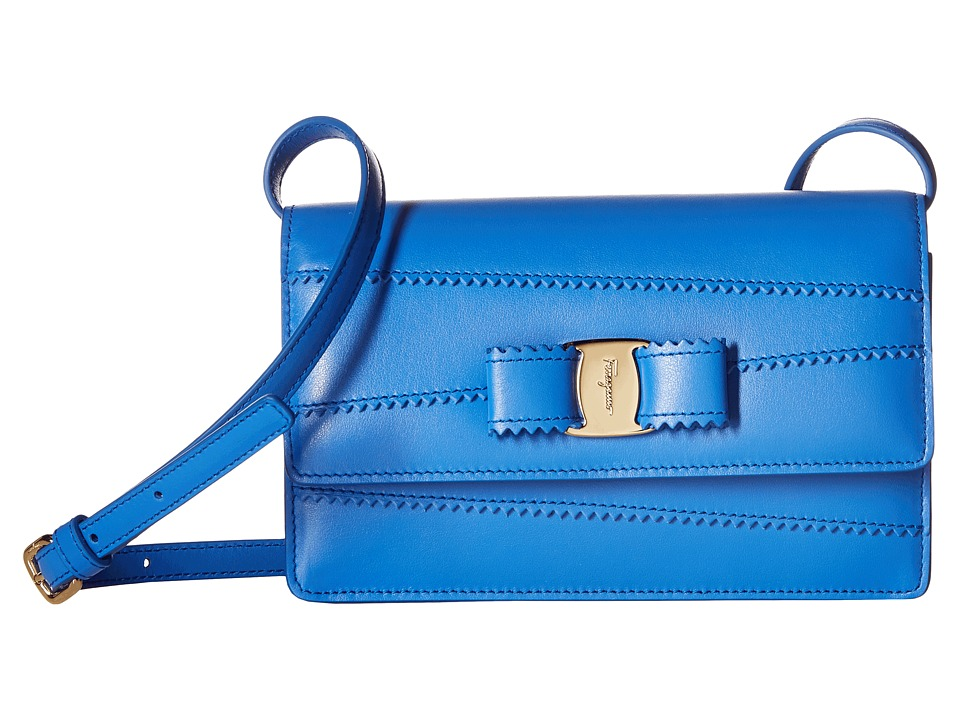 Salvatore Ferragamo - 22C674 (Bleu Indien/Bleu Indien) Handbags