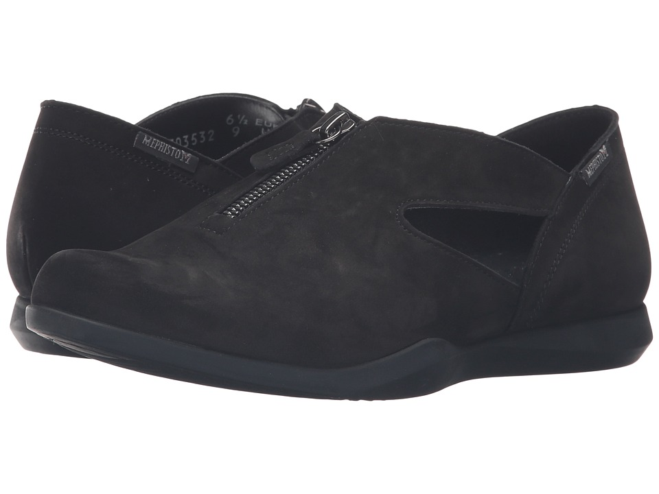 Mephisto - Cristal (Black Bucksoft) Women's Shoes