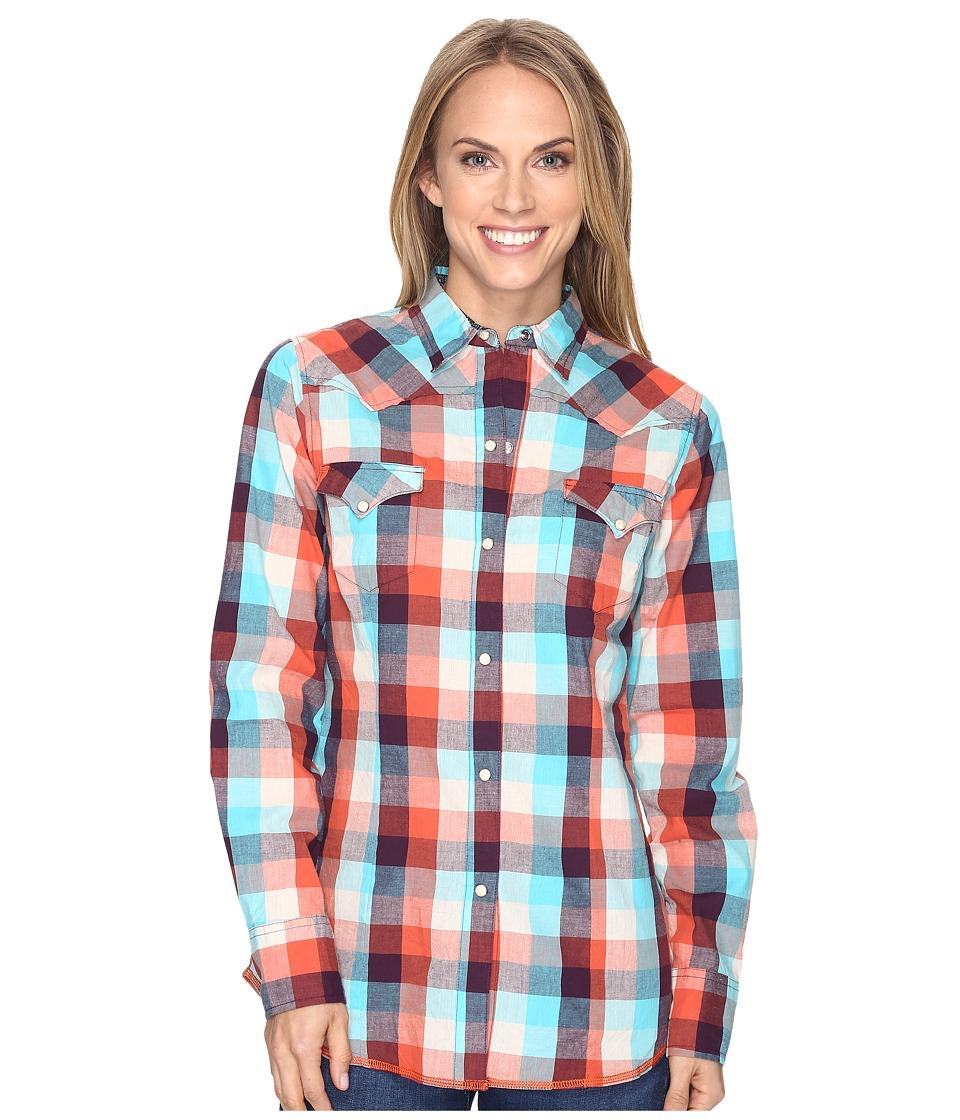 Roper - 0618 Sunrise Buffalo Plaid Shirt (Orange) Women's Clothing