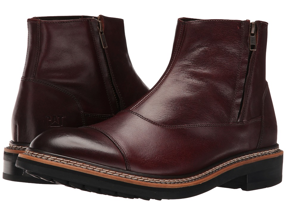 Caterpillar - Adner (Burgundy) Men's Zip Boots