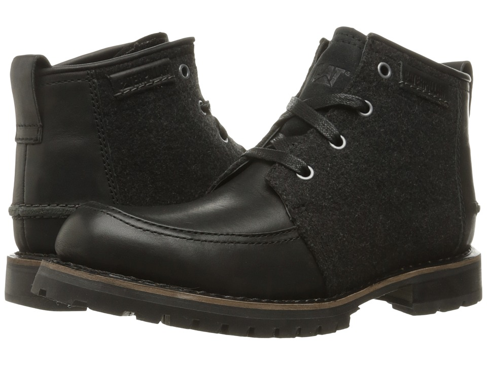 Caterpillar - Russell (Black Wool) Men's Lace-up Boots
