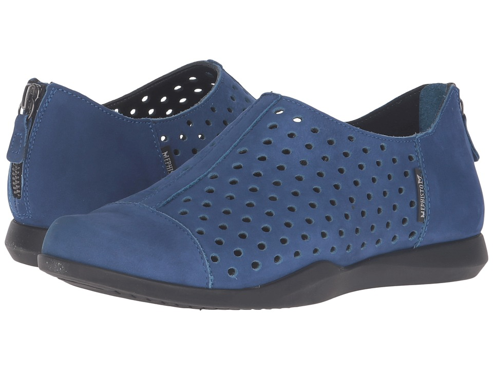 Mephisto - Clemence (Electric Blue Bucksoft) Women's Shoes