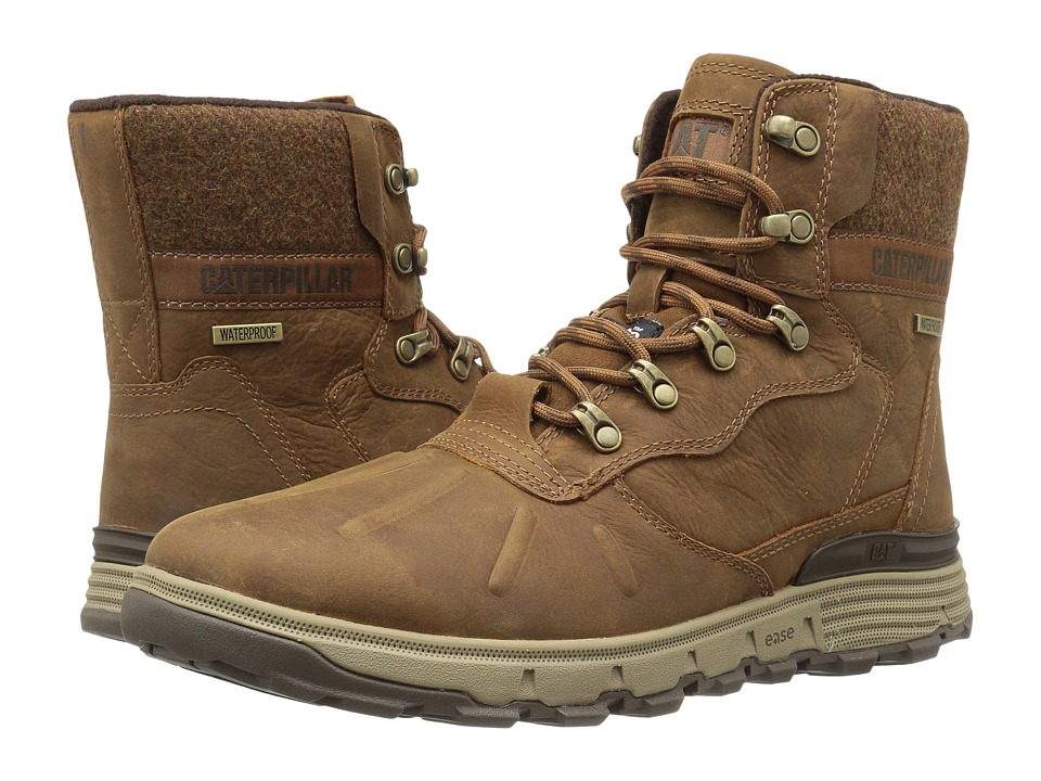 Caterpillar - Stiction Hi Waterproof Ice+ (Brown Sugar) Men's Work Lace-up Boots