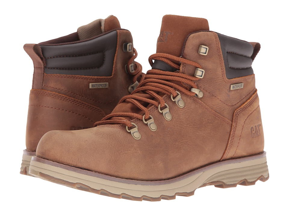 Caterpillar - Sire Waterproof (Brown Sugar) Men's Work Lace-up Boots