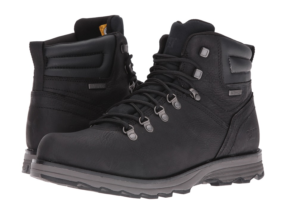 Caterpillar - Sire Waterproof (Black) Men's Work Lace-up Boots