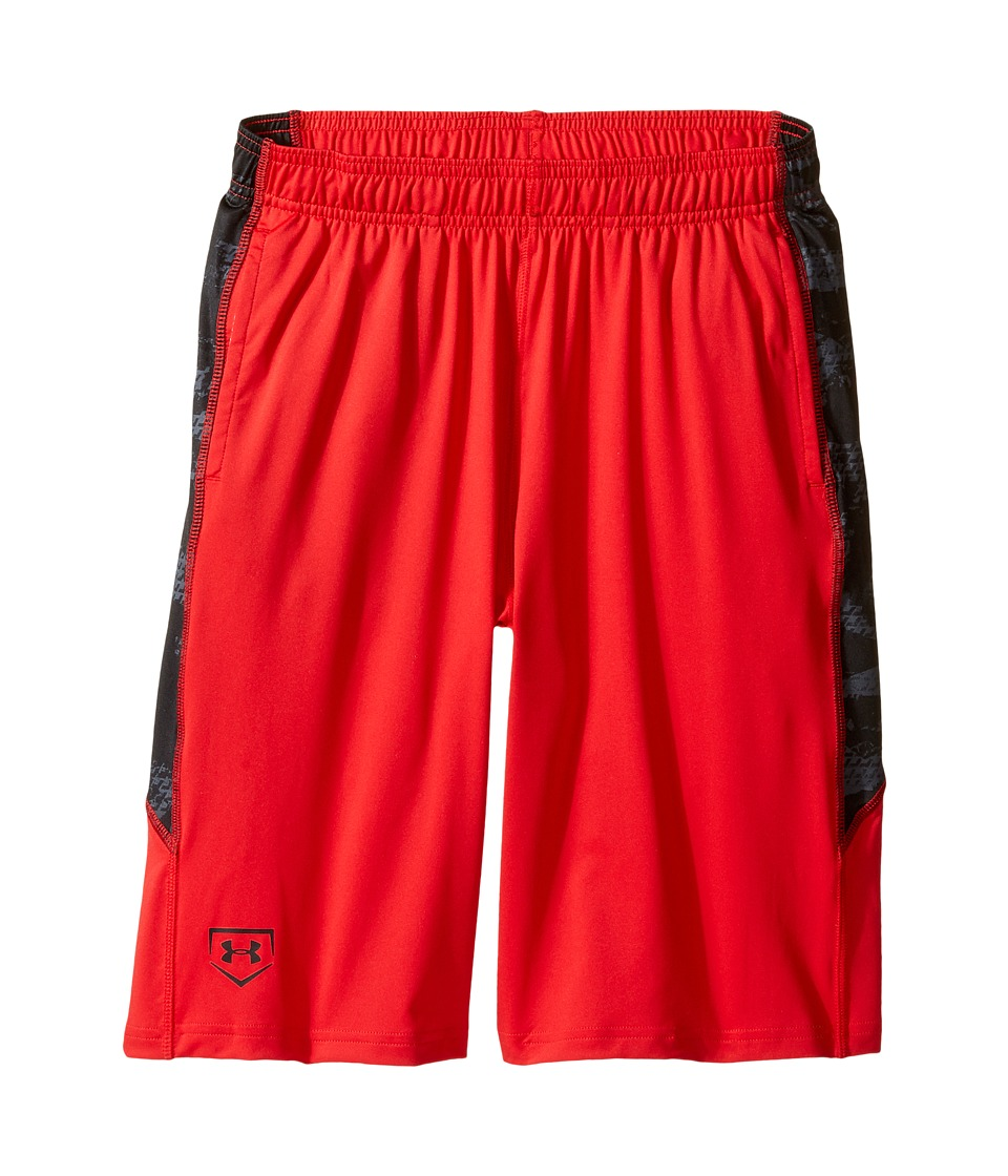 Under Armour Kids - Baseball Shorts (Big Kids) (Red) Boy's Shorts