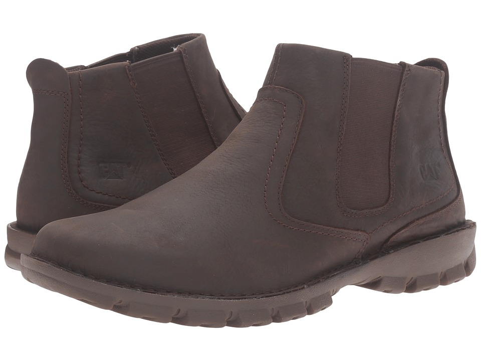 Caterpillar - Hoffman (Black Coffee) Men's Zip Boots