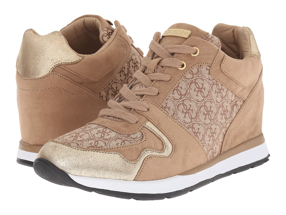 GUESS - Laceyy (Beige/Light Brown Fabric) Women's Shoes