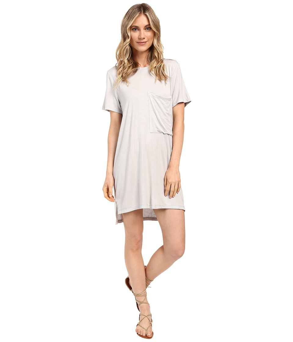 Culture Phit - Alba Pocketed Ribbed Dress (Grey) Women's T Shirt