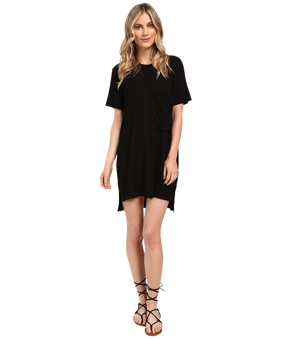 Culture Phit Alba Pocketed Ribbed Dress (Black) Women