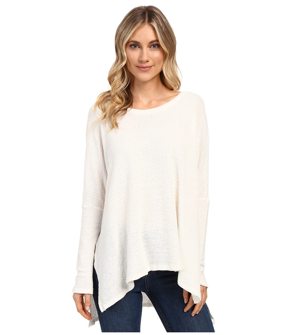 Culture Phit - Jovana Long Sleeve Waffle Top (Ivory) Women's Clothing