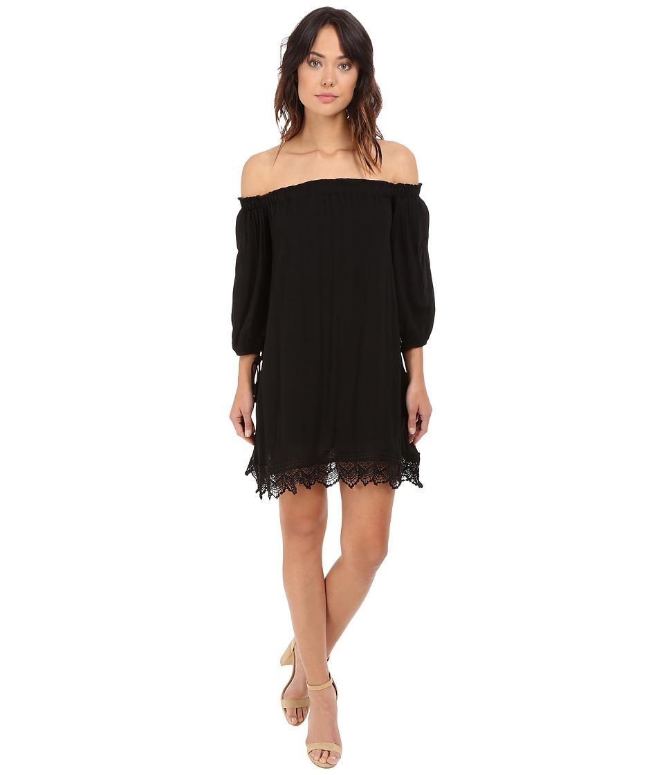 Brigitte Bailey - Karina Laced Off-Shoulder Dress (Black) Women's Dress