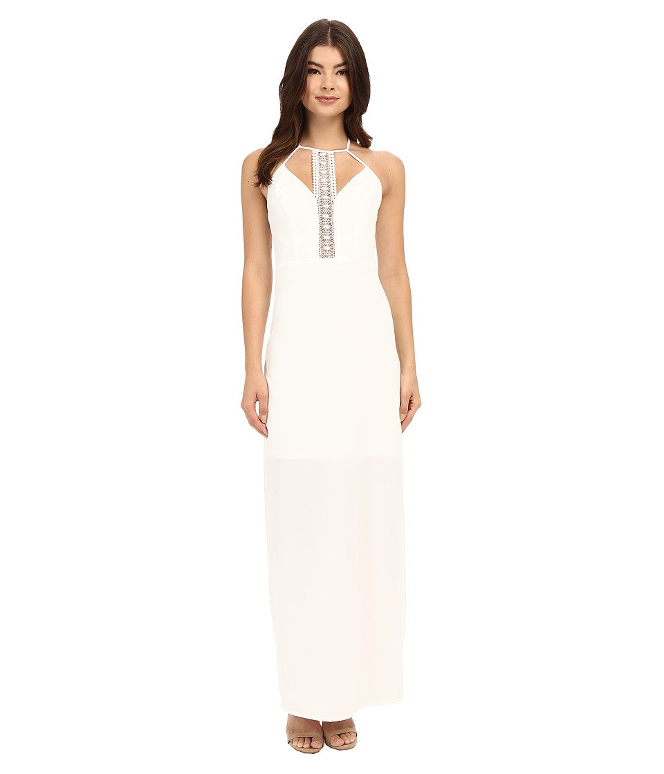 Brigitte Bailey - Darria Lace Detail Maxi Dress (White) Women's Dress