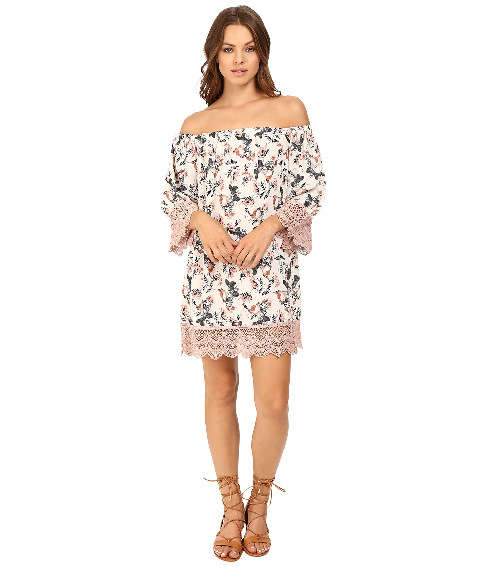 Brigitte Bailey - Elissa Floral Off the Shoulder Dress (Pink) Women's Dress