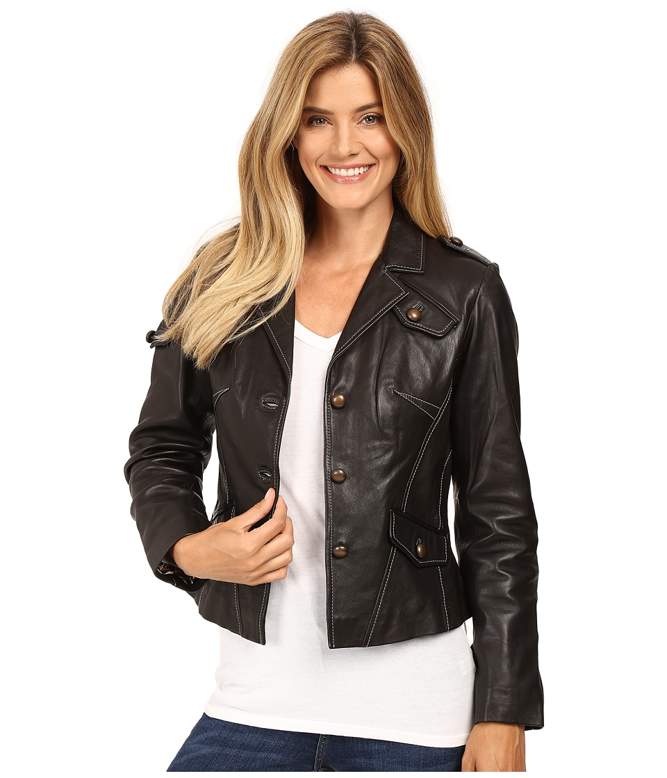 Tasha Polizzi - British Bomber Jacket (Black) Women's Coat