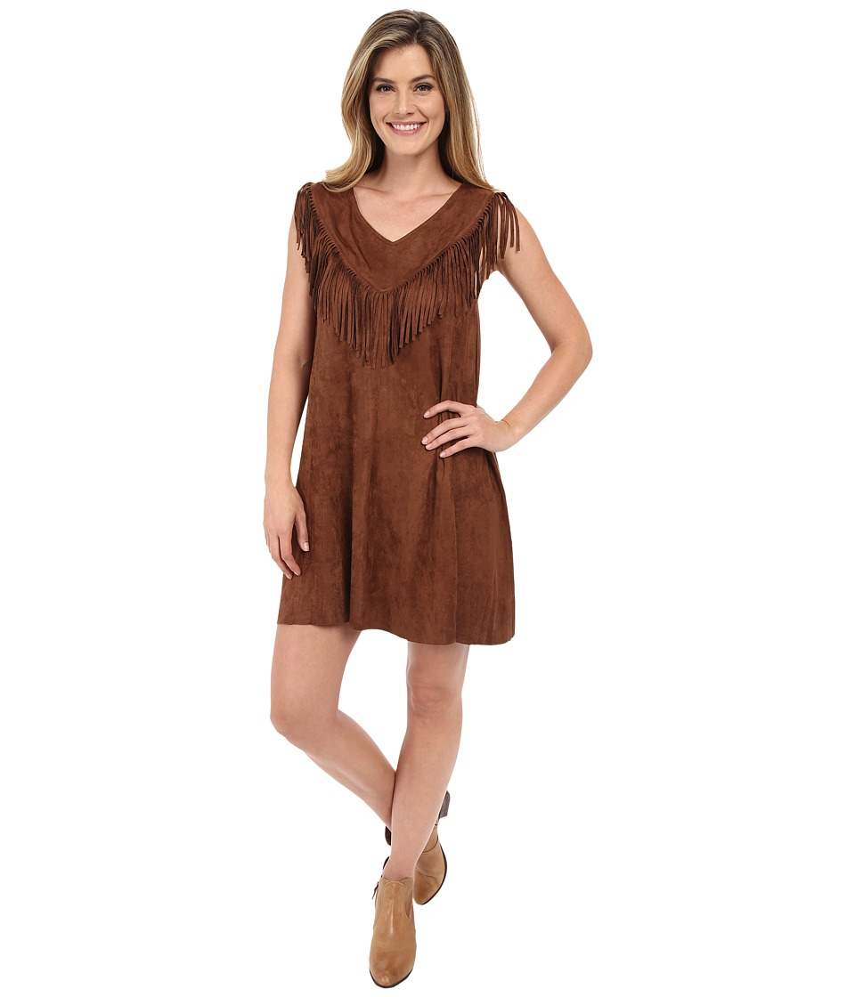 Tasha Polizzi - Buckskin Dress (Tan) Women's Dress