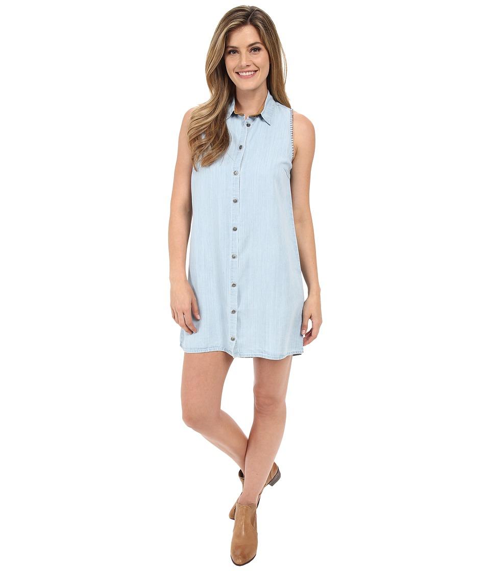 Tasha Polizzi - Cowgirl Shirtdress (Blue) Women's Dress