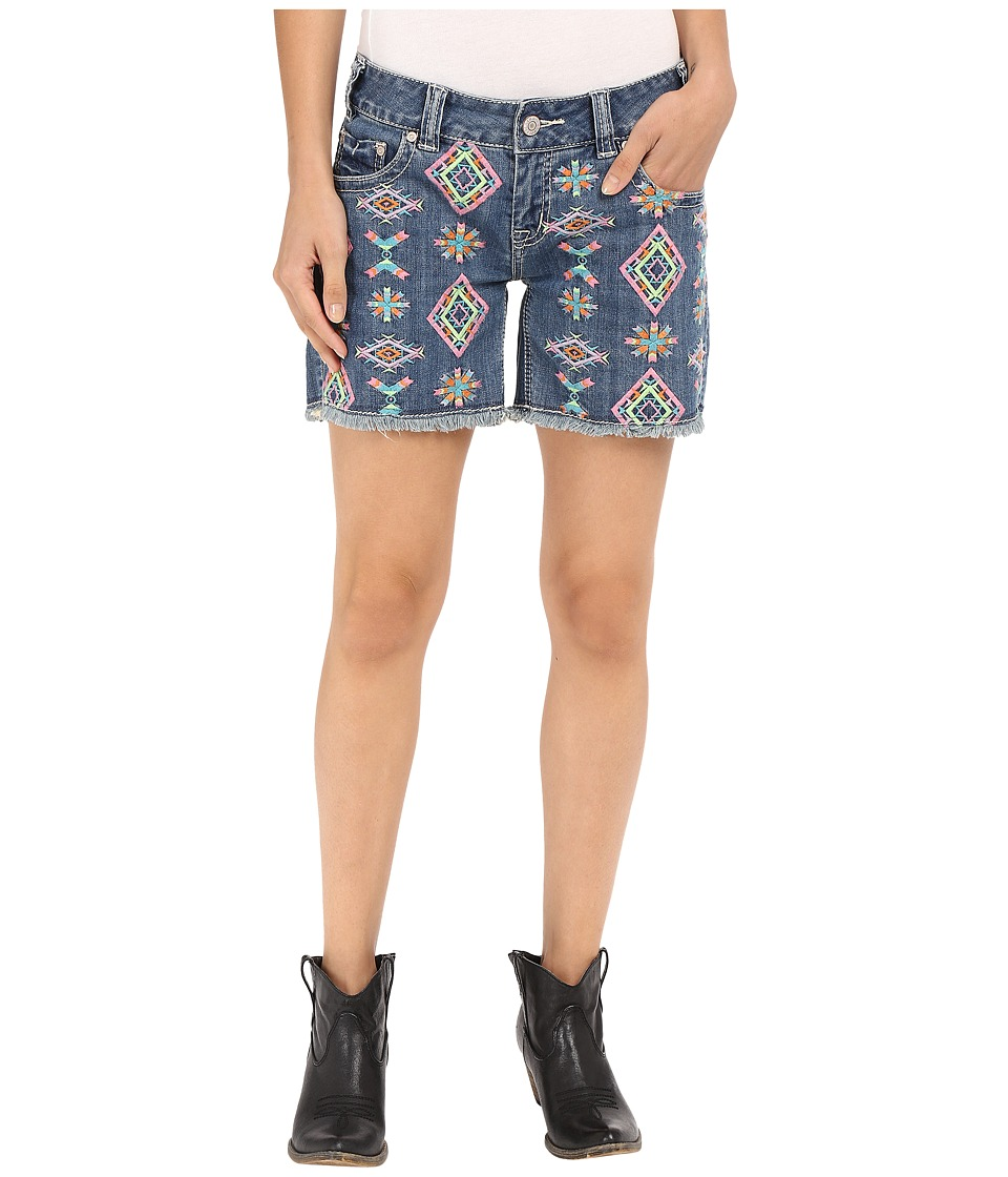 Rock and Roll Cowgirl - Low Rise Short 68-7375 (Light Wash) Women's Shorts