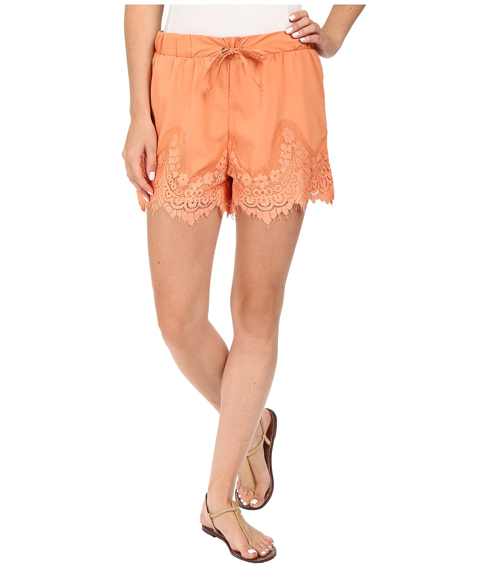 Rock and Roll Cowgirl - Shorts 68-7256 (Coral) Women's Shorts