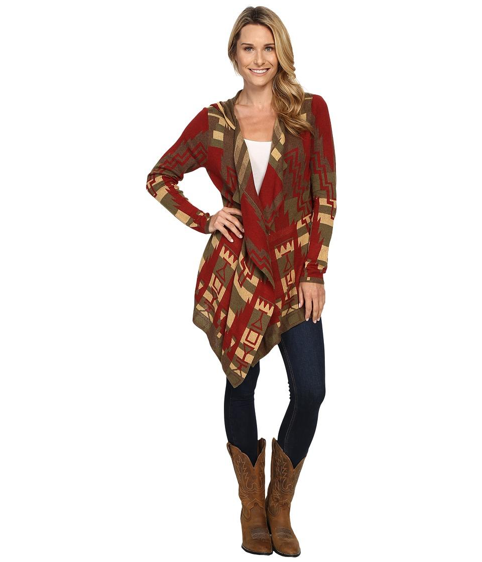 Tasha Polizzi - Big Horn Cardigan (Ruby) Women's Sweater