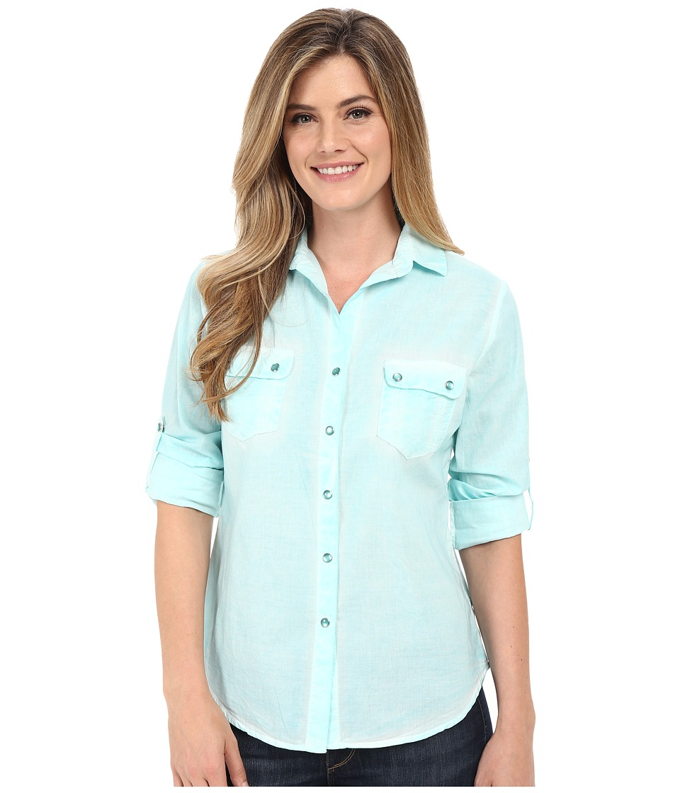 Tasha Polizzi - Cancun Shirt (Blue) Women's Long Sleeve Button Up