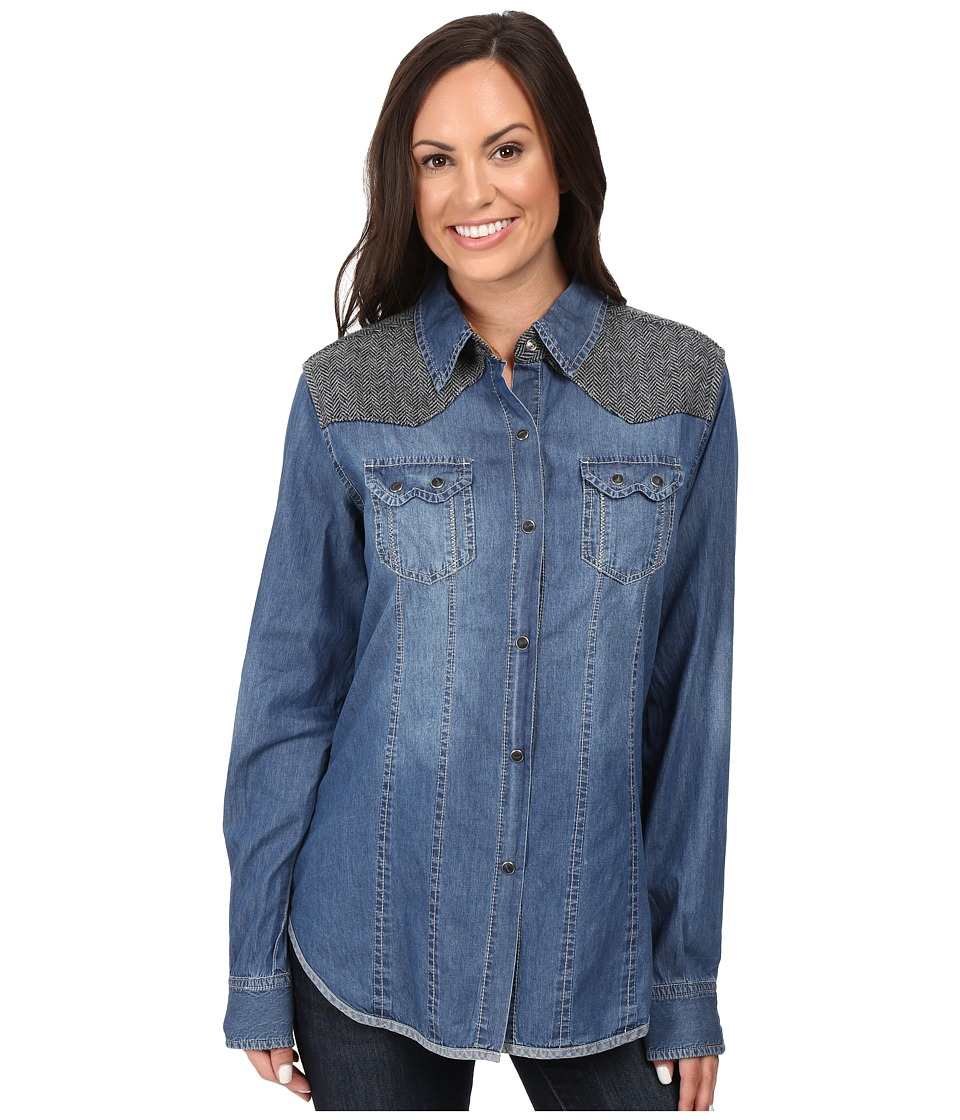 Tasha Polizzi - Vivian Shirt (Washed Denim) Women's Clothing