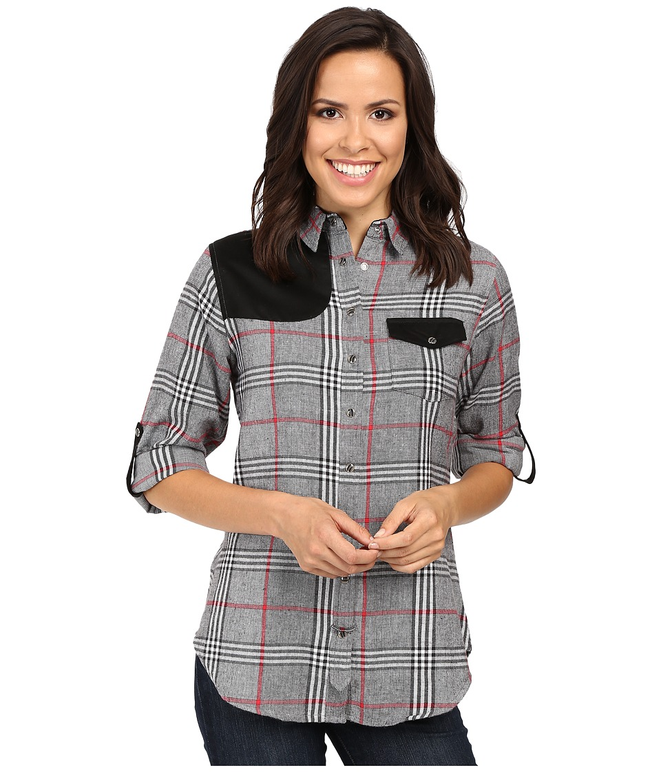 Tasha Polizzi - Shooting Shirt (Black) Women's Long Sleeve Button Up