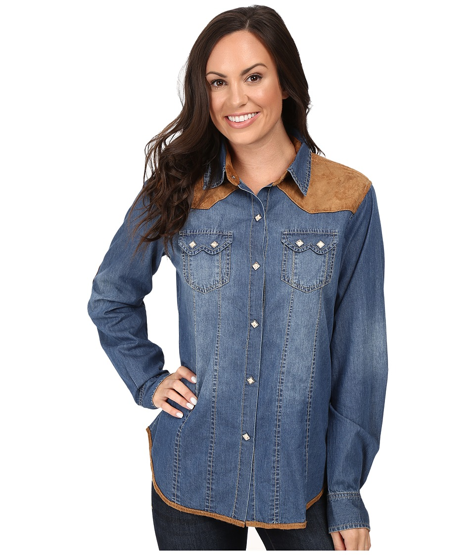 Tasha Polizzi - Skyler Shirt (Washed Denim) Women's Clothing